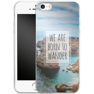 Apple iPhone 5s Silikon Handyhuelle - Born to Wander von Joel Perroden