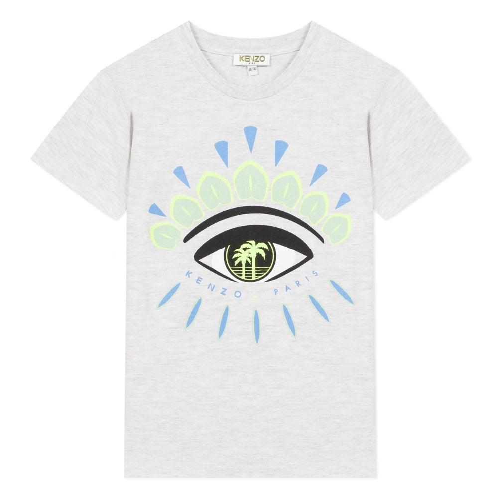 Kenzo Kids Eye Graphic Logo T-Shirt Colour: GREY, Size: 4 YEARS