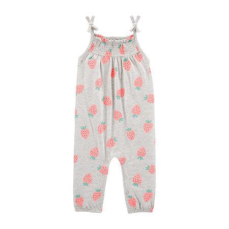 Carter's Baby Girls Short Sleeve Jumpsuit, 9 Months , Gray