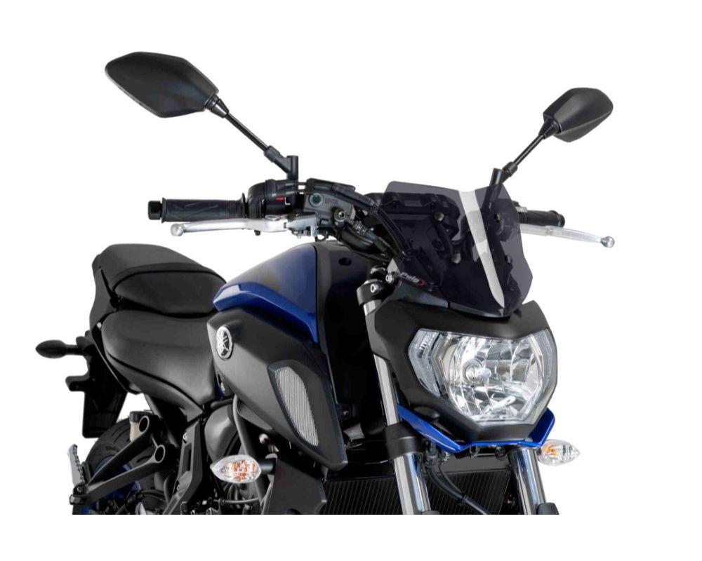 Puig 9666F Naked New Gen Sport Windscreen - Dark Smoke Yamaha MT-07 2018