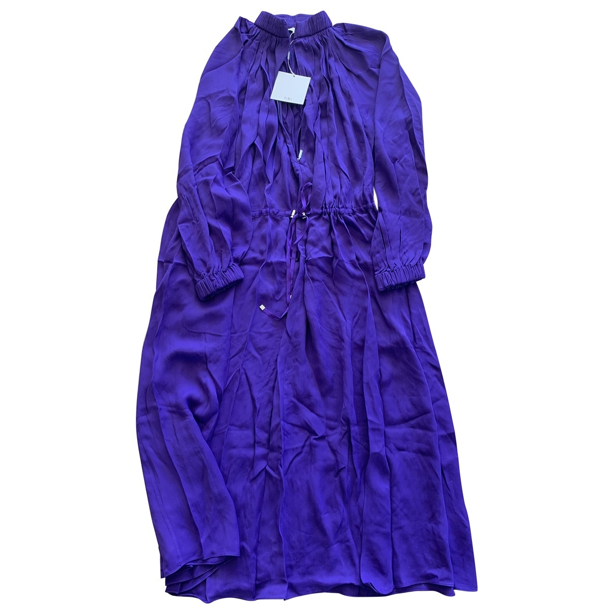 Tibi \N Purple Silk dress for Women M International
