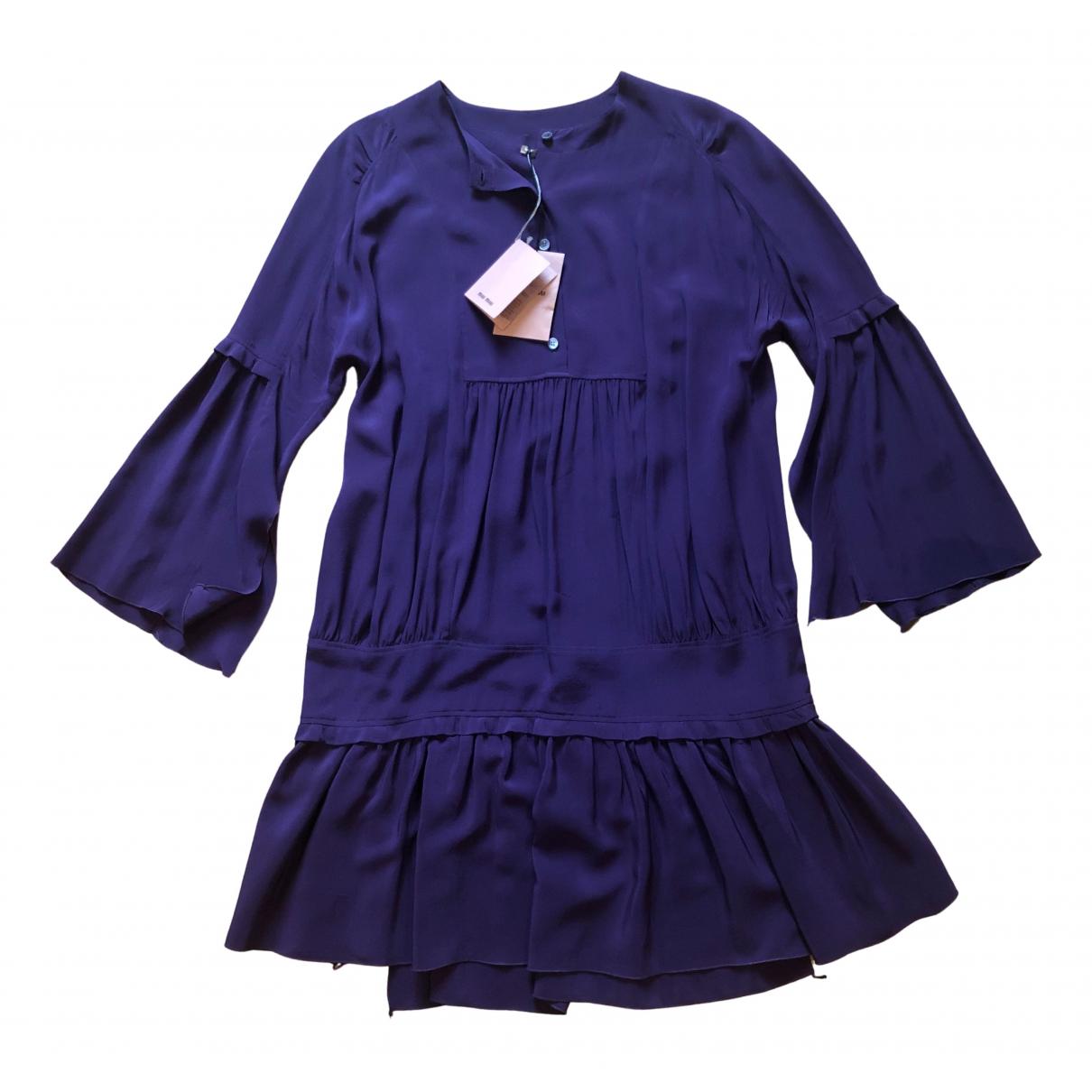 Miu Miu N Purple Silk dress for Women 40 IT