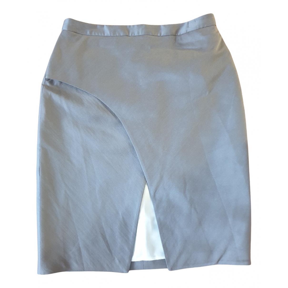 Etienne Deroeux N Grey Wool skirt for Women 44 FR