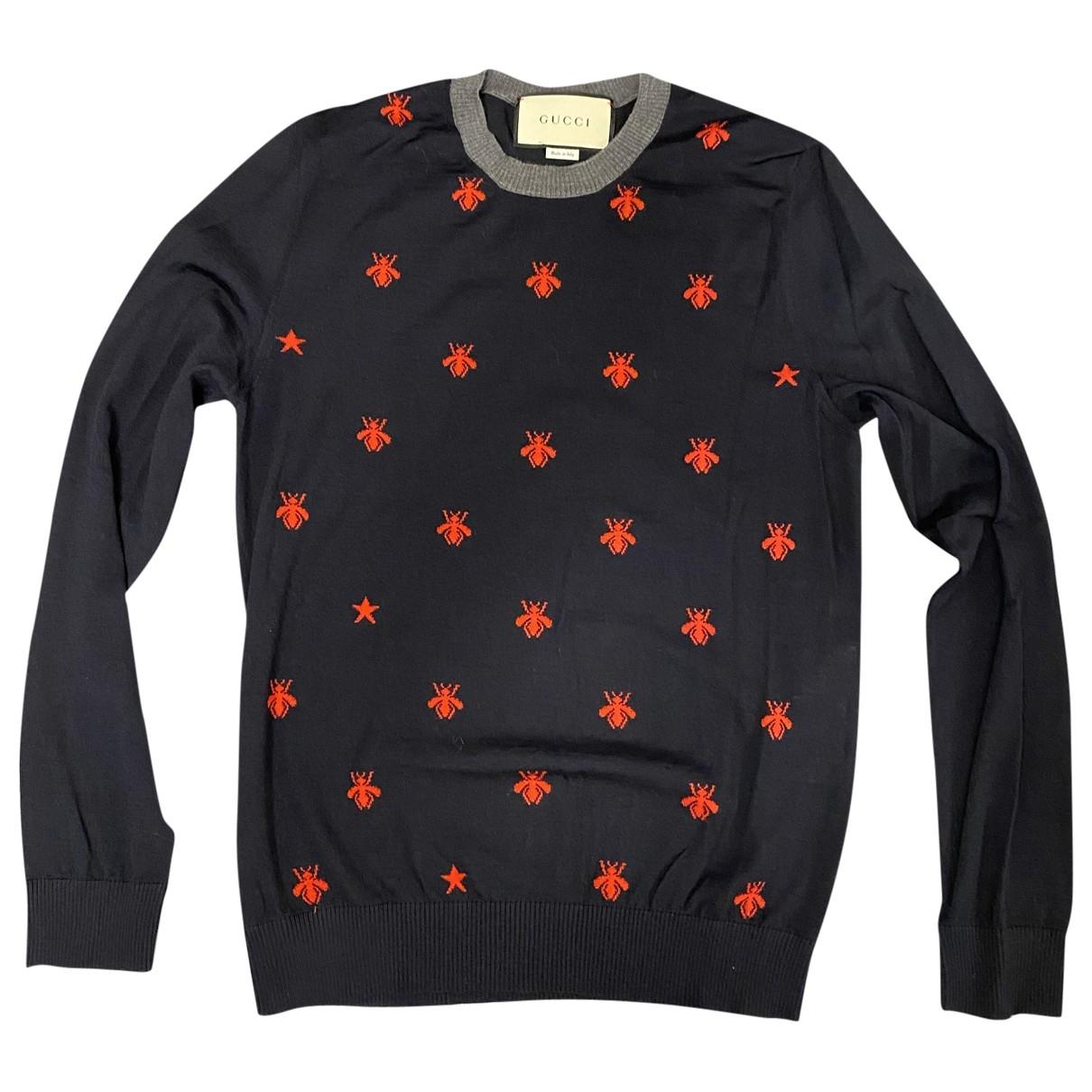 Gucci - Pulls.Gilets.Sweats   pour homme en laine - marine