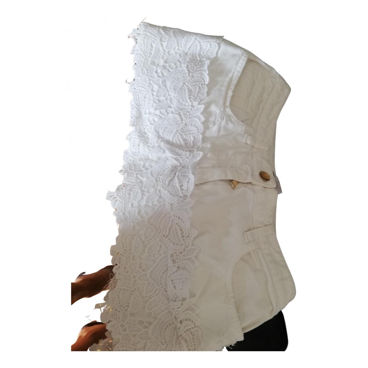 Dolce & Gabbana - Jupe   pour femme en coton - blanc