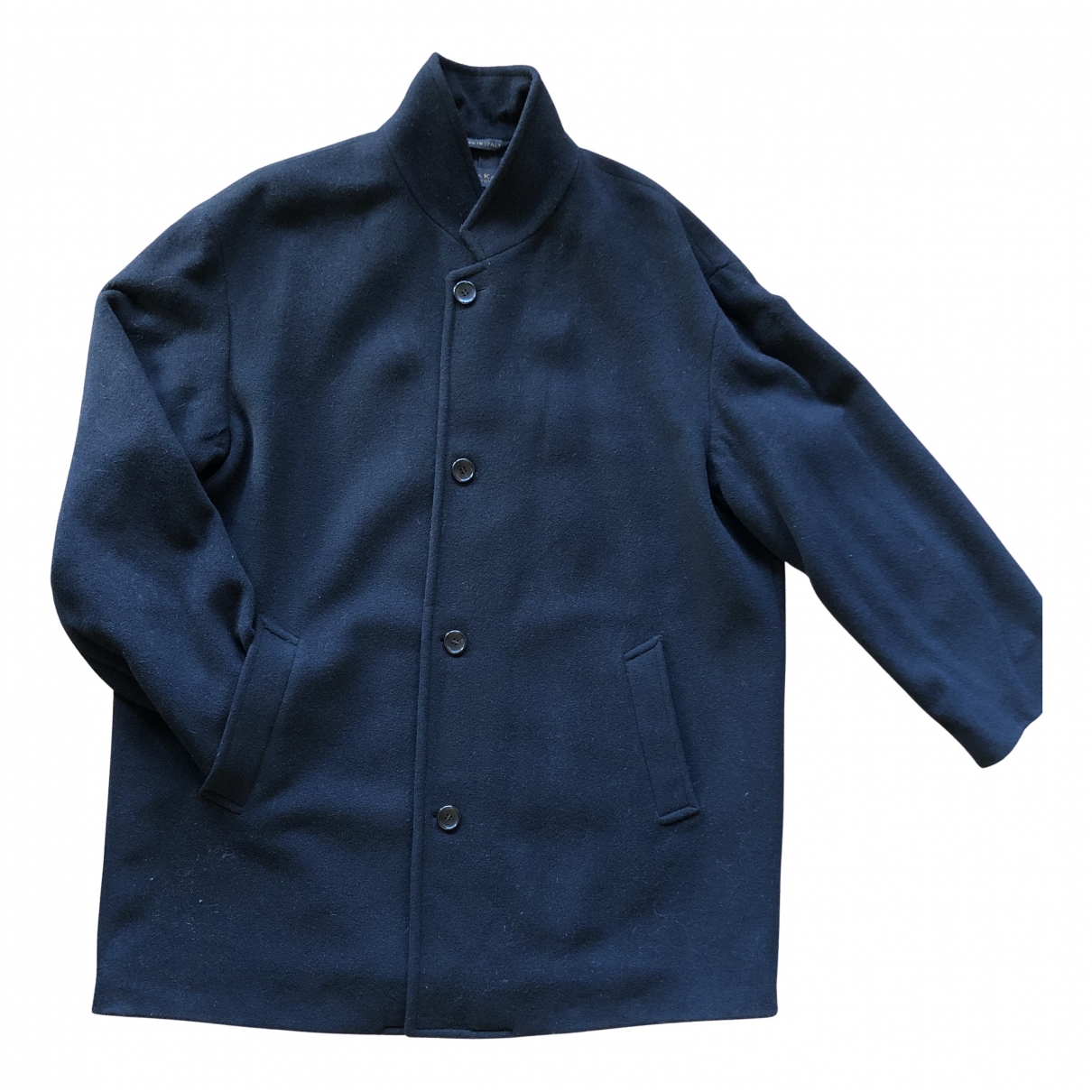 Donna Karan - Manteau   pour homme en laine - noir