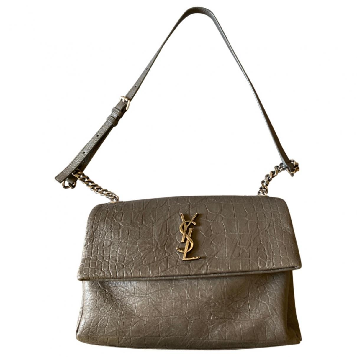 Saint Laurent West Hollywood Grey Leather handbag for Women \N
