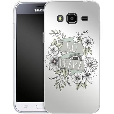 Samsung Galaxy J3 (2016) Silikon Handyhuelle - No Drama - Green von Barlena