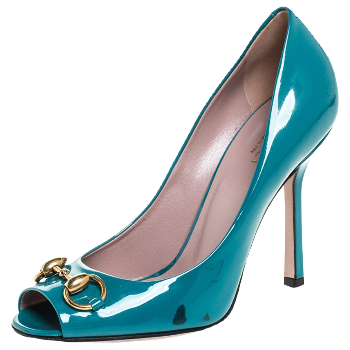 Gucci \N Blue Leather Heels for Women 7 US