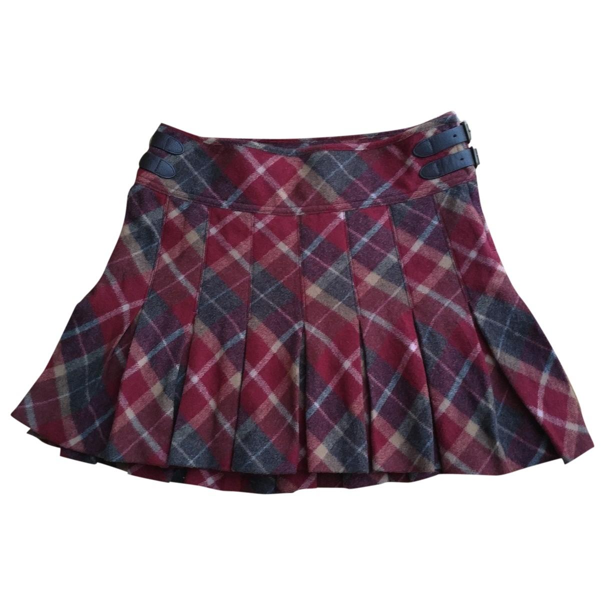 Polo Ralph Lauren \N Burgundy Wool skirt for Women 2 0-5