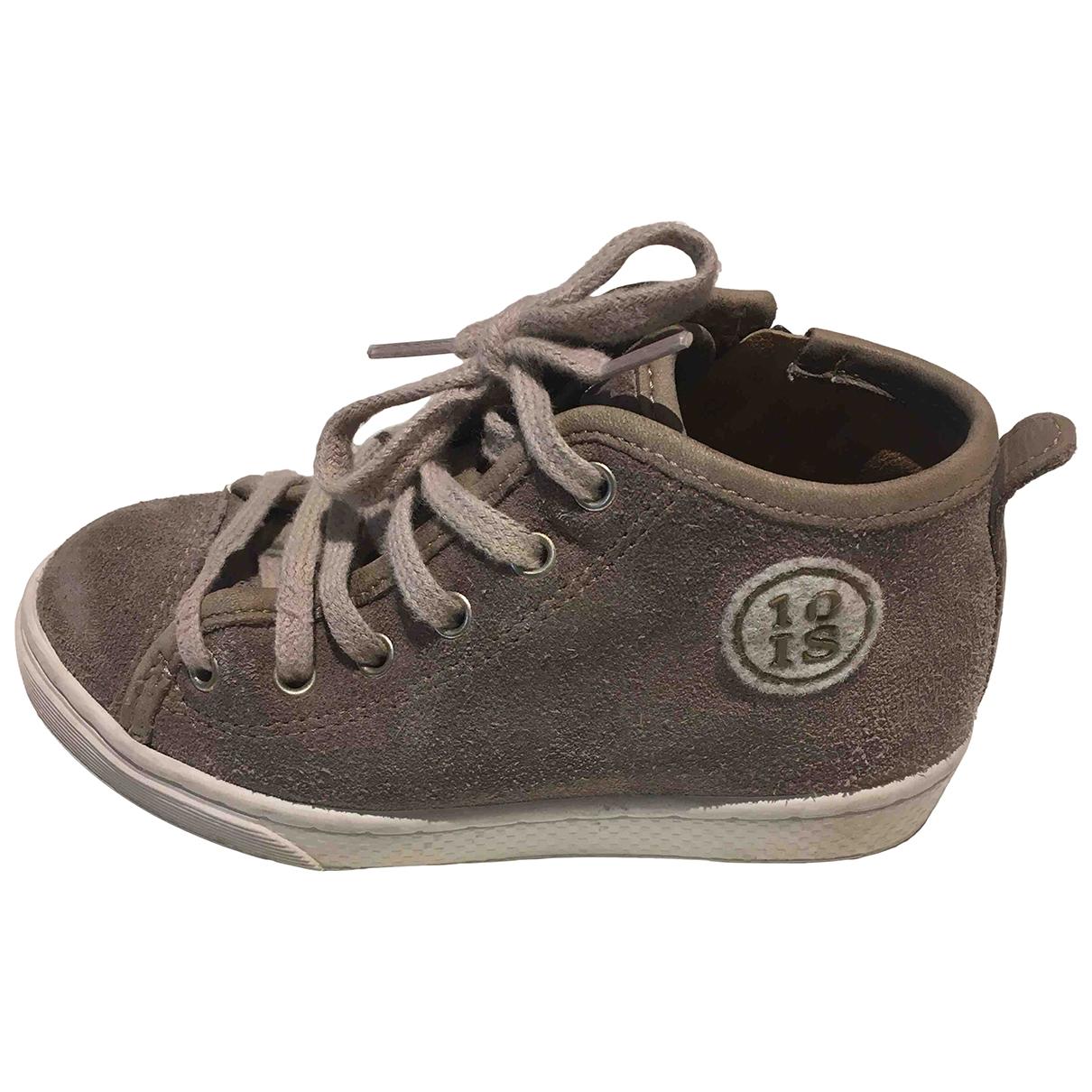 10 Is \N Sneakers in  Grau Leder