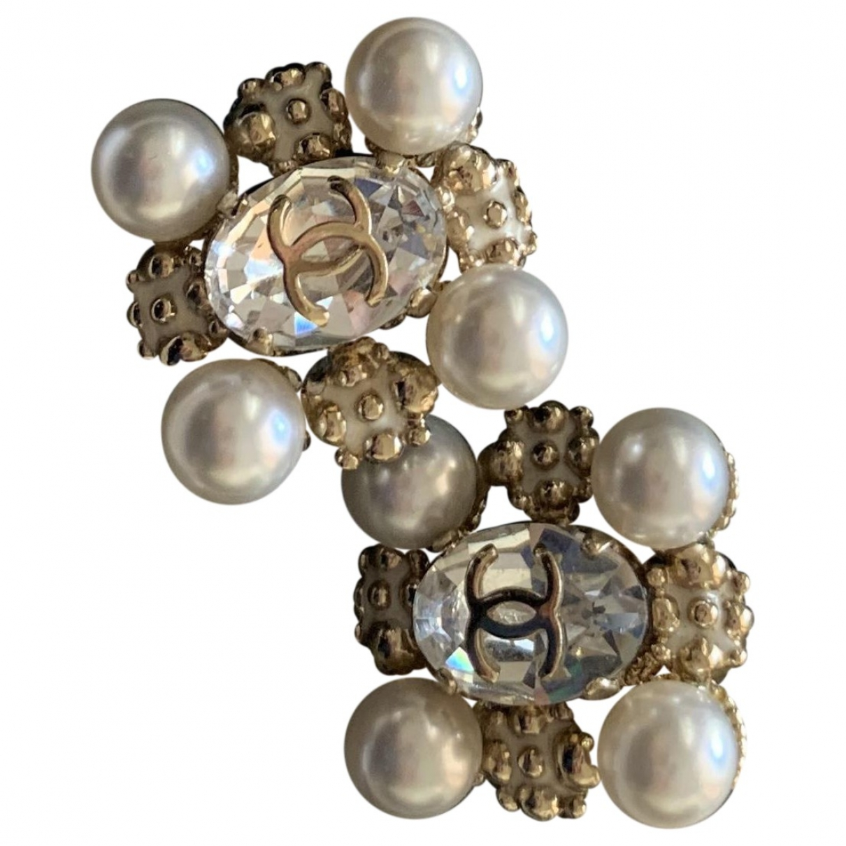 Pendientes Baroque de Oro blanco Chanel