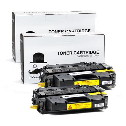 Compatible HP 80X CF280X Black Toner Cartridge High Yield - Moustache - 2/Pack