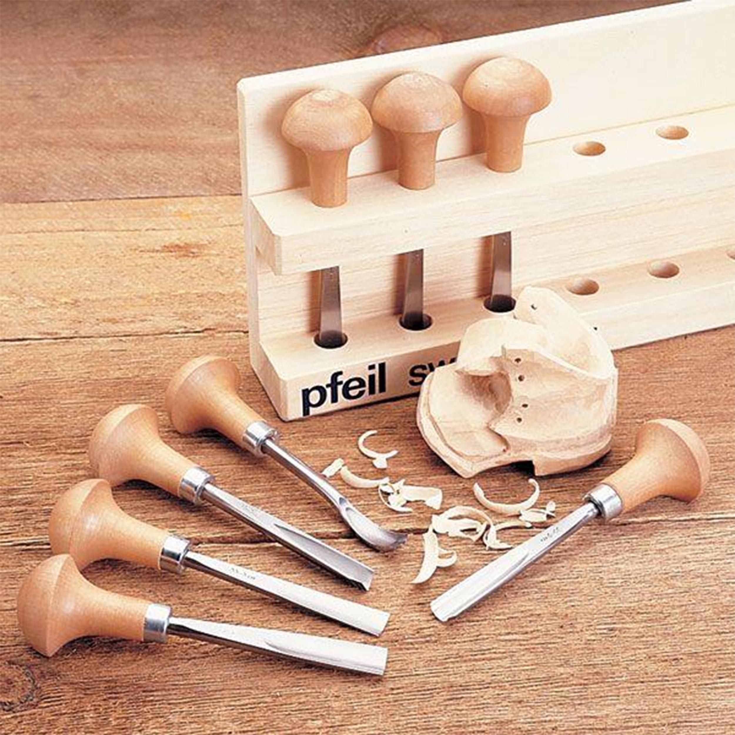 Palm Handled Carving Tool Set B, 8 piece