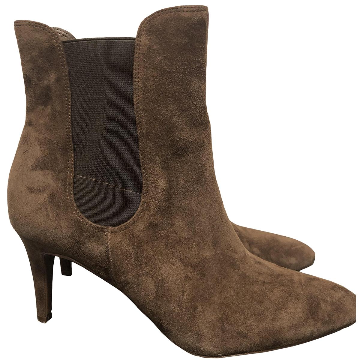 Lauren Ralph Lauren \N Brown Suede Ankle boots for Women 40 EU