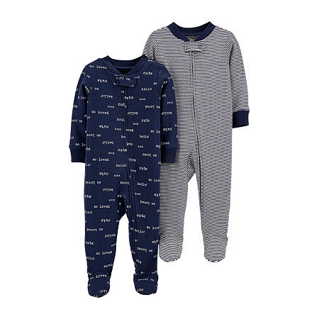 Carter's Little Baby Basics Baby Unisex 2-pc. Sleep and Play, 6 Months , Blue