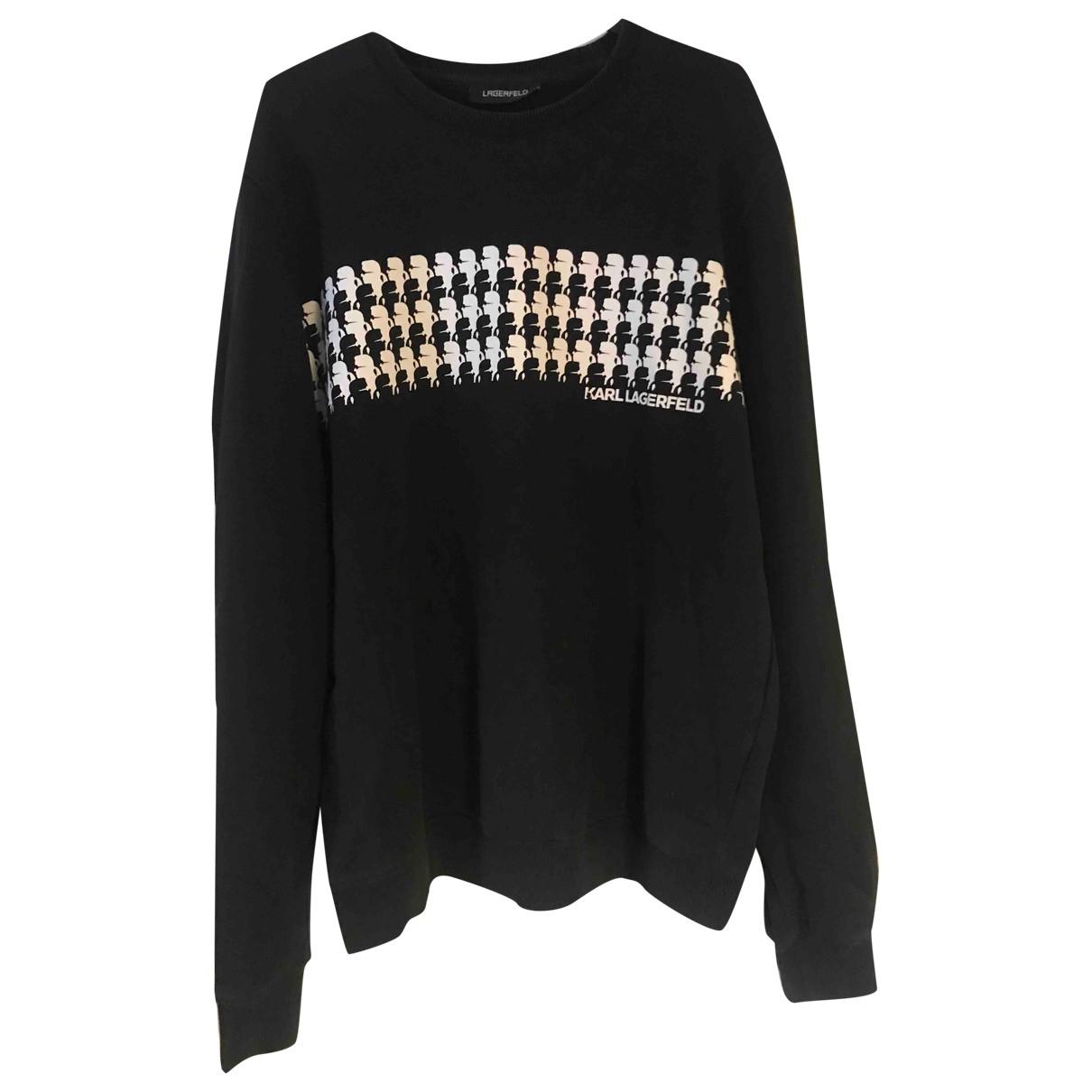 Karl Lagerfeld \N Pullover.Westen.Sweatshirts  in  Schwarz Baumwolle