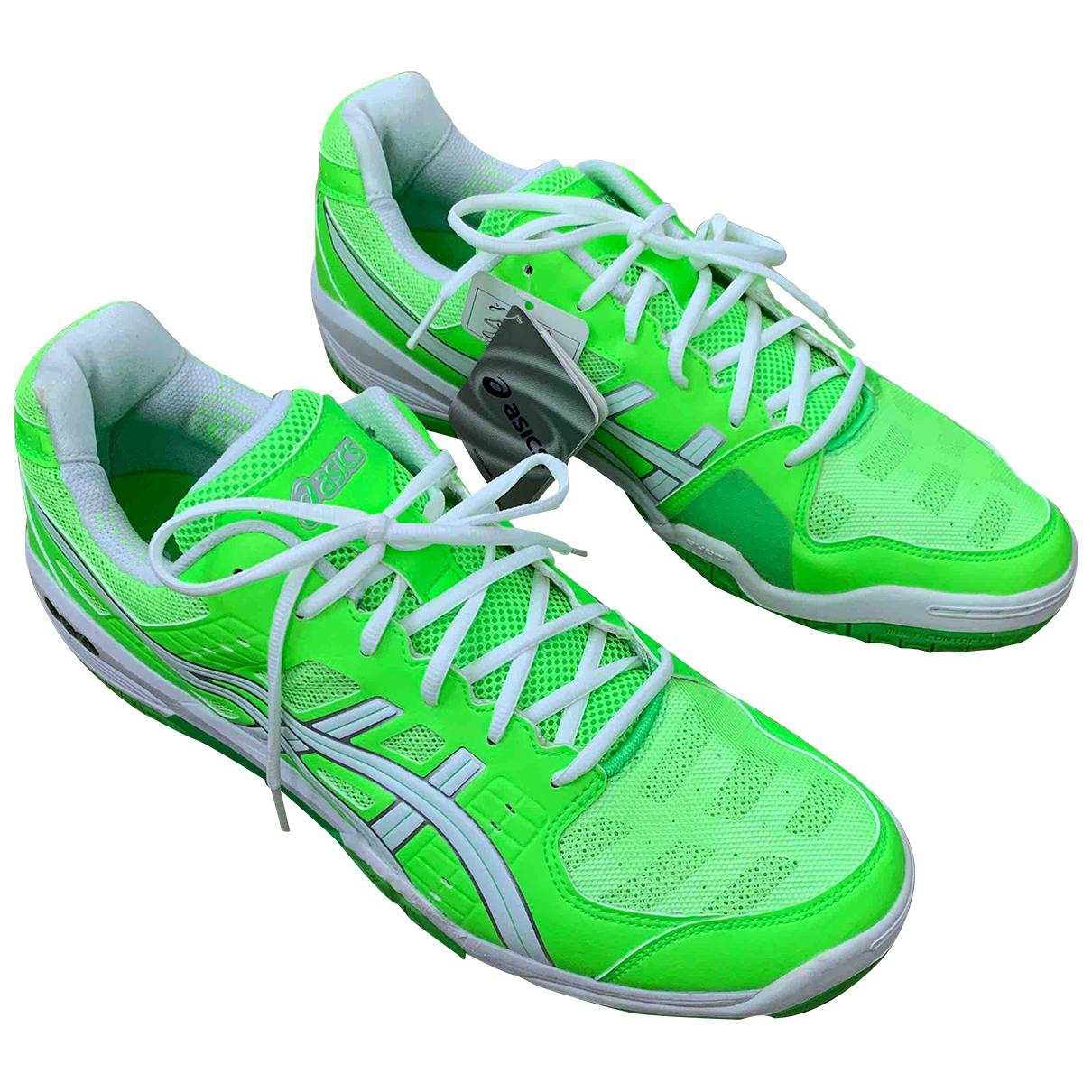 Asics - Baskets   pour homme en toile - vert