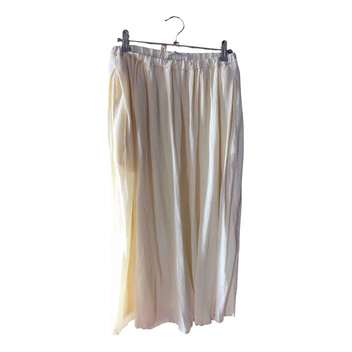 Pomandere - Jupe   pour femme en soie - ecru