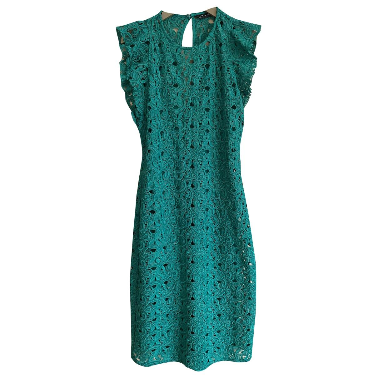 Zara \N Green Lace dress for Women M International
