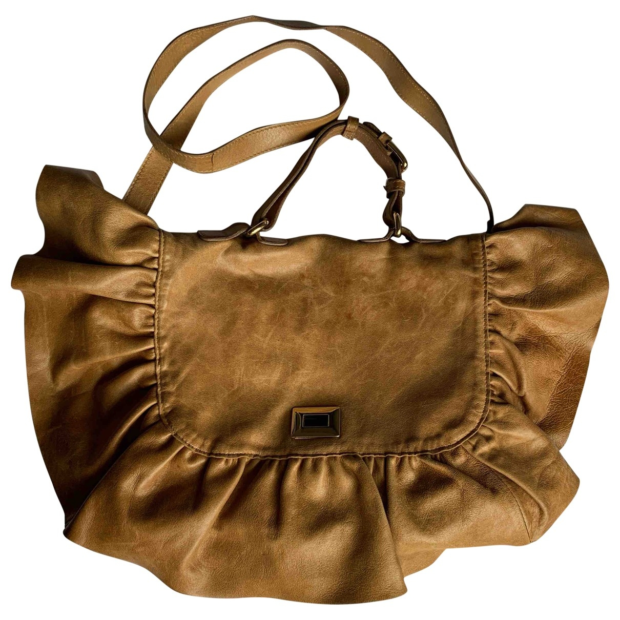 Red Valentino Garavani \N Brown Leather handbag for Women \N