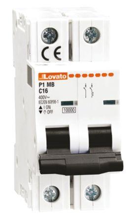 Lovato ModuLo 6 A MCB Mini Circuit Breaker, 1 + N Curve C