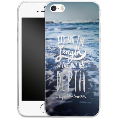 Apple iPhone SE Silikon Handyhuelle - Depth von Leah Flores