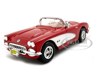 1959 Chevrolet Corvette Convertible Red 1/24 Diecast Model Car by Motormax