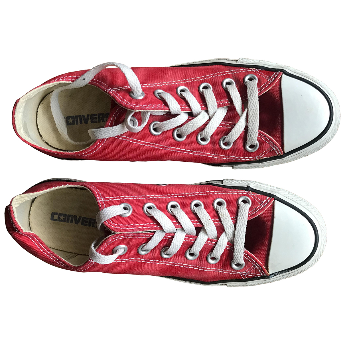 Converse \N Red Rubber Trainers for Women 38 EU