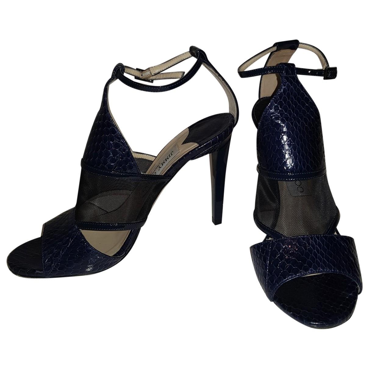 Jimmy Choo \N Navy Water snake Sandals for Women 37 EU
