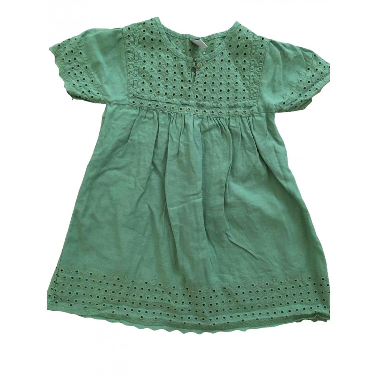 Zara - Robe    pour enfant en lin - vert