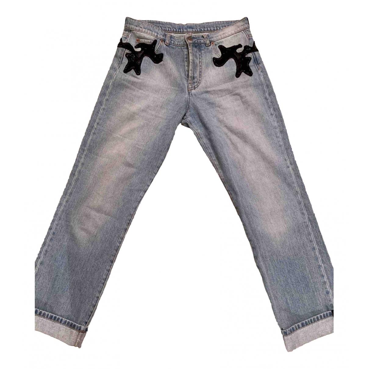 Louis Vuitton \N Blue Cotton Jeans for Women 40 FR