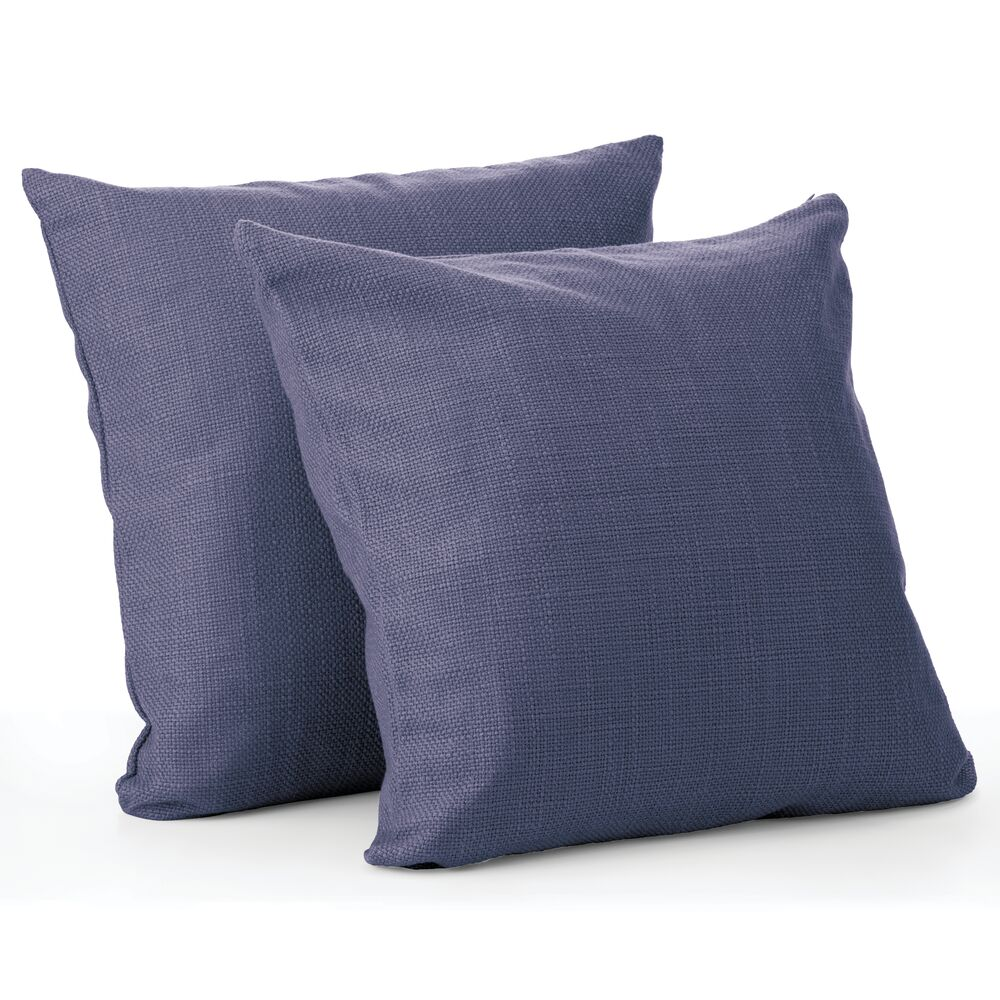 mDesign Decorative Faux Linen Pillow Case Cover, Pack of in Navy