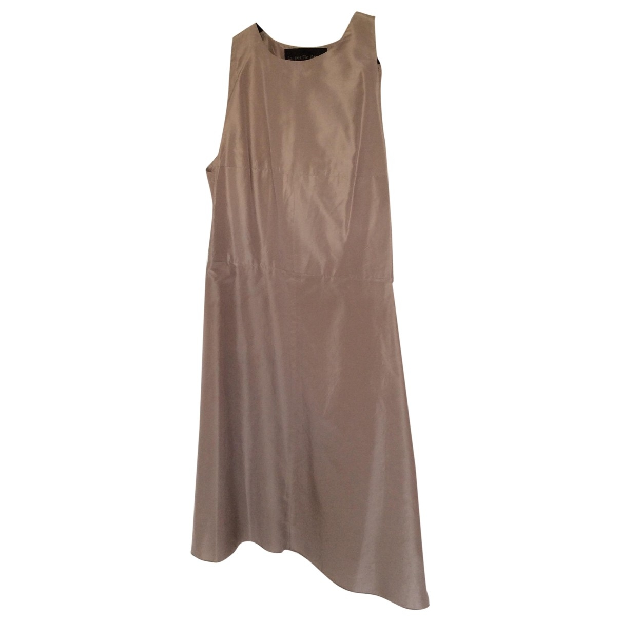 La Petit S***** - Robe   pour femme en soie - gris
