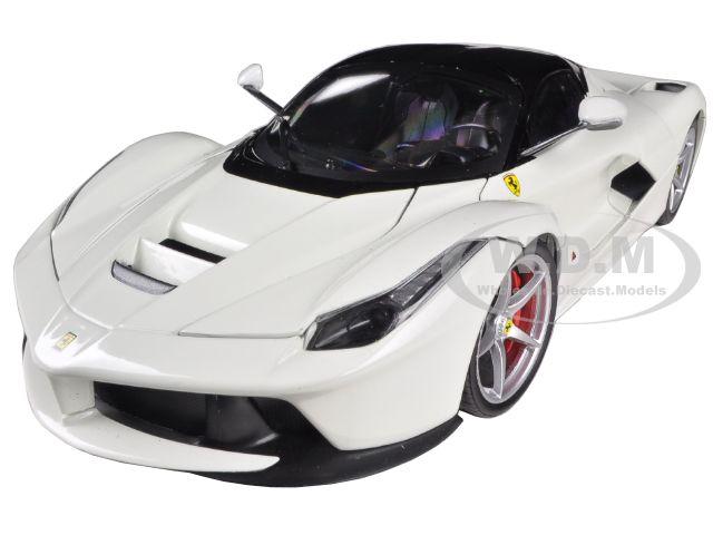 Ferrari Laferrari F70 Hybrid White 1/18 Diecast Car Model by Hotwheels