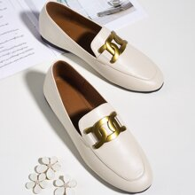 Metal Decor Wide Fit Loafers