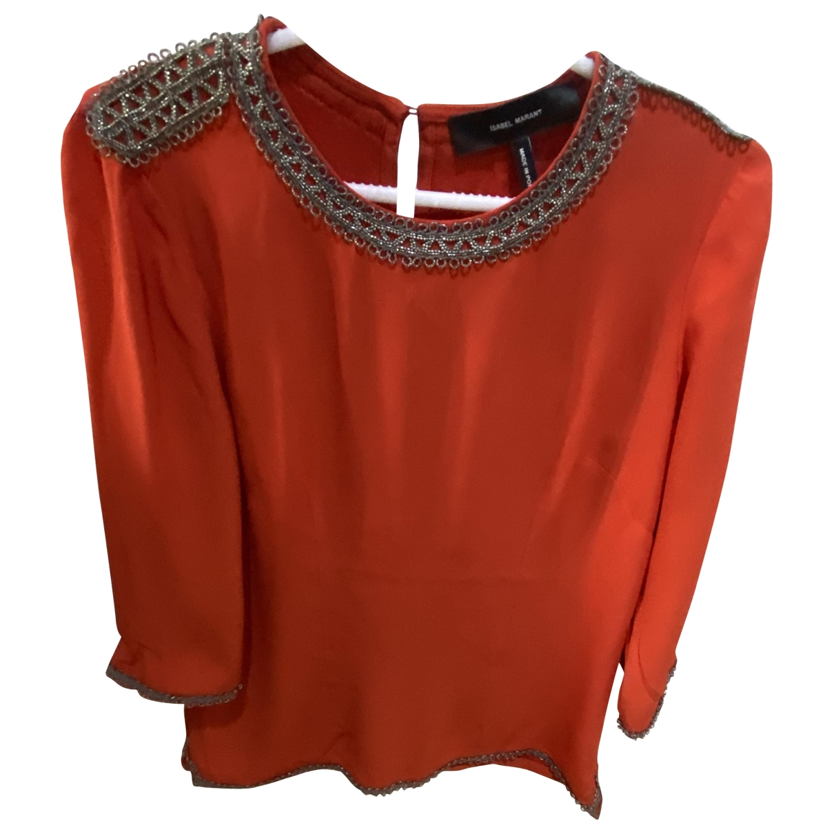 Isabel Marant \N Top in  Orange Seide