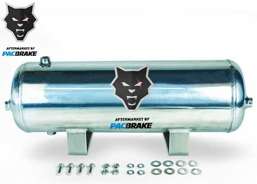 Pacbrake HP10264 2 1/2 Gallon Aluminum Basic Air Tank Kit Tank and Hardware Only