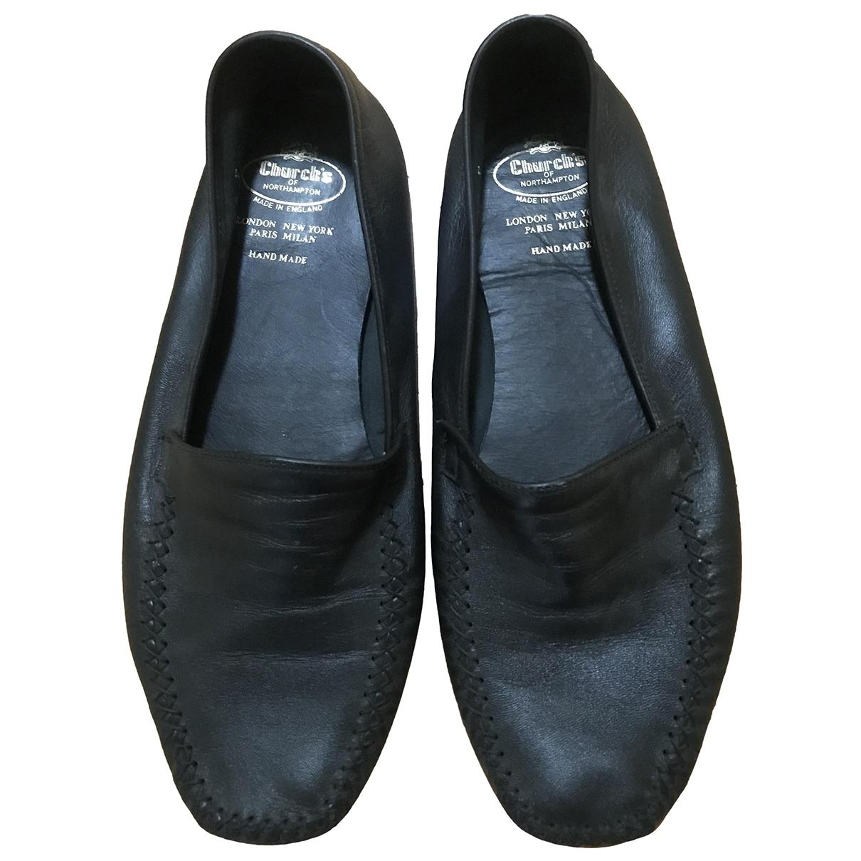 Churchs - Espadrilles   pour homme en cuir - noir