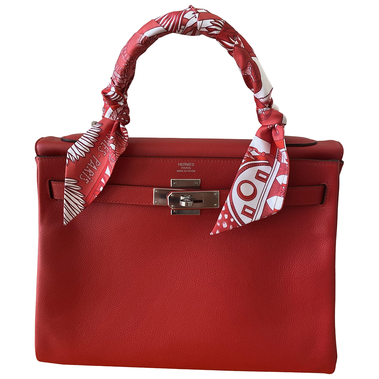 Hermès Kelly 32 Red Leather handbag for Women \N