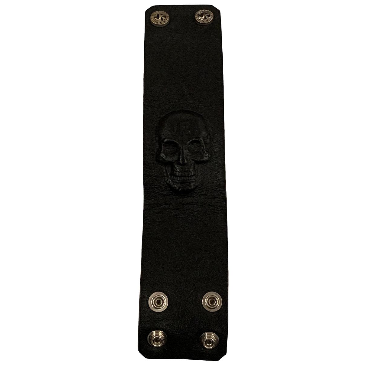 John Richmond \N Black Leather Jewellery for Men \N