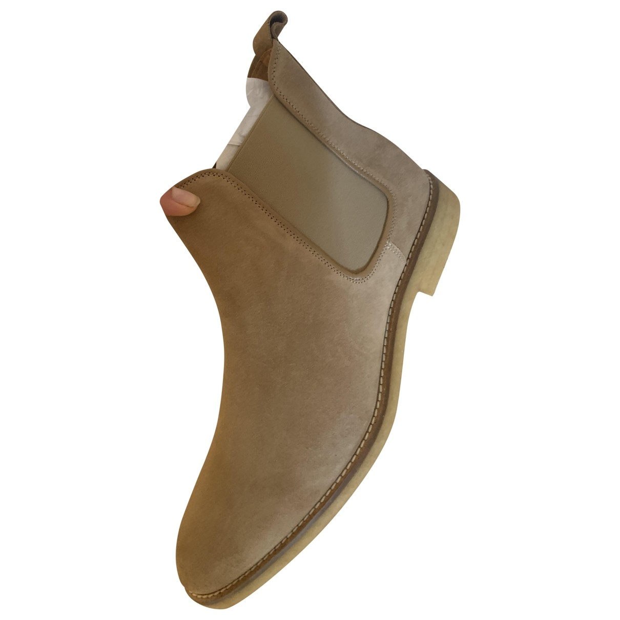 Octobre Editions \N Beige Leather Boots for Men 46 EU