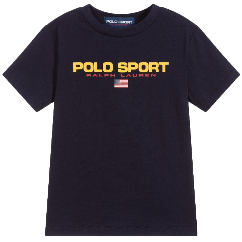 Ralph Lauren Polo Sport T-Shirt Navy Size: S (8 YEARS), Colour: NAVY