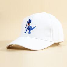 Kinder Baseball Kappe mit Dinosaurier Stickereien