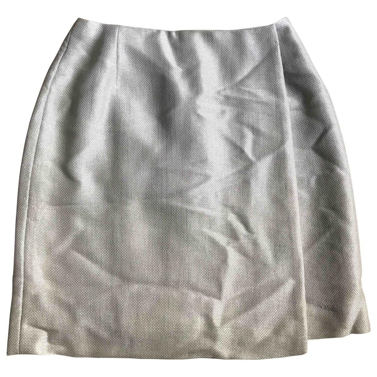 Celine \N Ecru Linen skirt for Women 38 FR