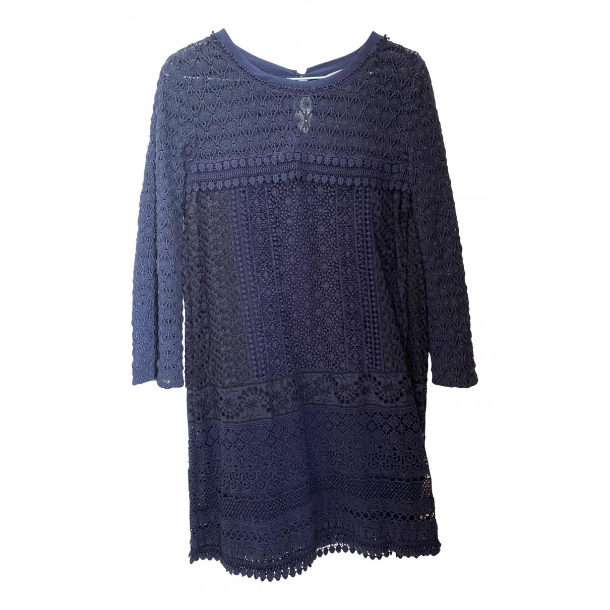 Vanessa Bruno Athe \N Kleid in  Marine Baumwolle