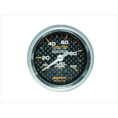 Auto Meter Carbon Fiber Mechanical Fuel Pressure Gauge - 4712