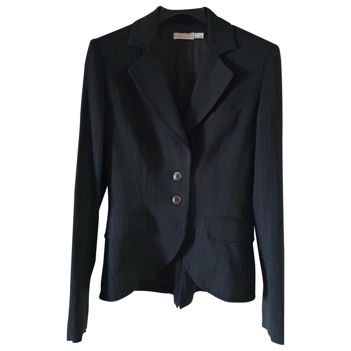 Pinko \N Black Wool jacket for Women 40 IT