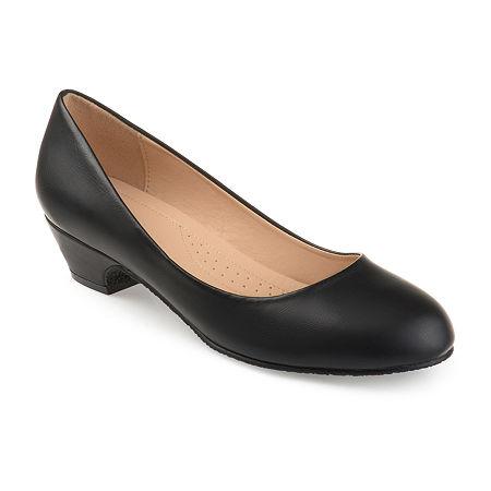 Journee Collection Womens Saar Pumps Block Heel, 9 Medium, Black