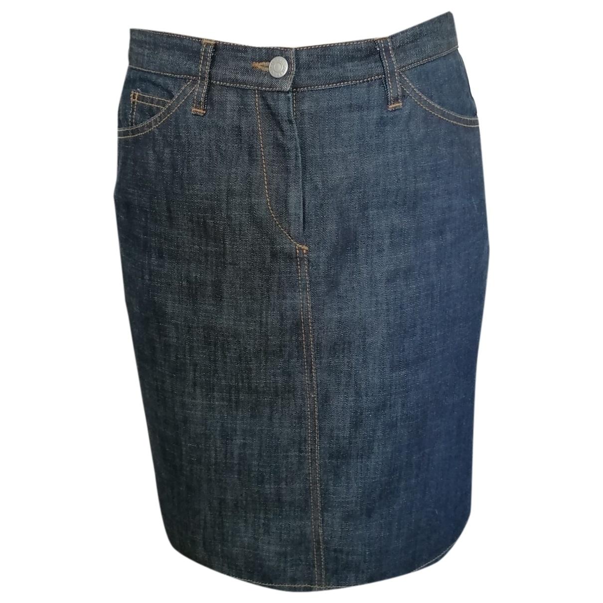 Isabel Marant Etoile - Jupe   pour femme en coton - bleu